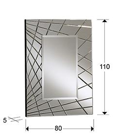 Espejo rectangular biselada Fusion 110x80