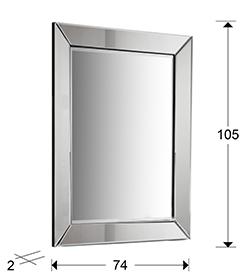 medidas espejo elisa schuller. 195627