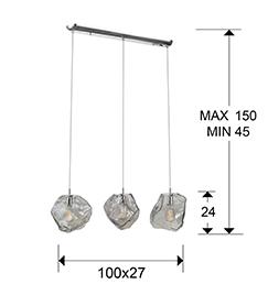 Lampara Petra Schuller - lineal 3 L. LED 213455