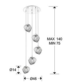 Lámpara Petra Schuller 5 L. LED circular 213790