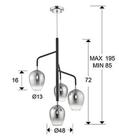 medida lampara Izar Schuller