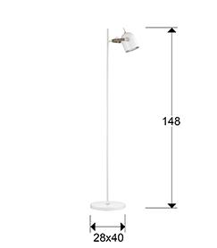 pie de salon Adame Schuller 346115 medidas