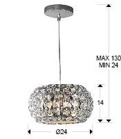 medidas colgante diamond Schuller. 507413