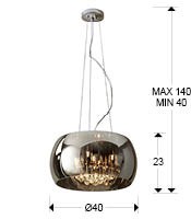 medidas lampara argos 508718 schuller