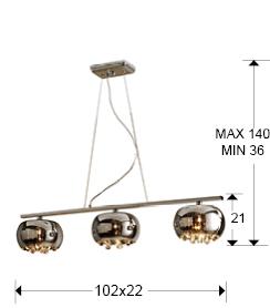 medidas lampara argos schuller 509213