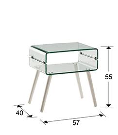 mesa auxiliar de cristal Glass II