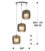 medida colgante Aqua 654639 schuller