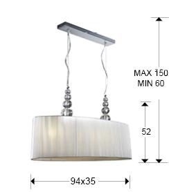 medidas lámpara Mercury Schuller 664115
