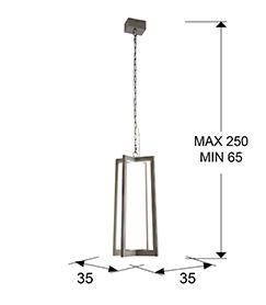 Lámpara Kuma Schuller acero luz LED 753108