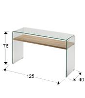 Consola de recibidor de cristal SONOMA