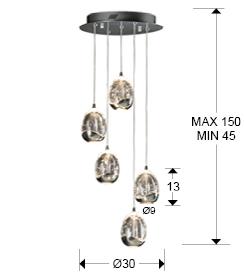 medidas lámpara Rocio Schuller. 783517