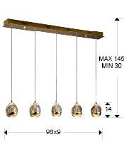 Lampara lineal Rocio Schuller 5 L. 783627