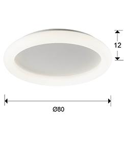 lampara plafon quasar schuller 785263 medidas