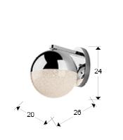 Aplique pared Sphere Schuller 1L LED 793371