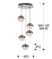 medidas colgante sphere schuller