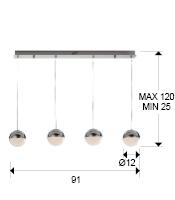 medida lampara sphere schuller 793635
