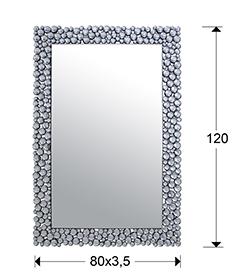 Espejo de cristal Sphere 120x80