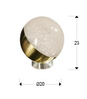 medida sobremesa Sphere grande Schuller 794539