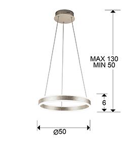 Lampara Helia Schuller pan de plata LED 831963