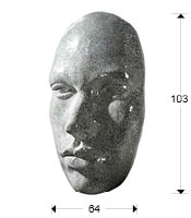 Máscara de cara de Geisha en fibra de vidrio