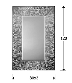 medidas espejo rizos Schuller 852508