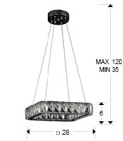 medidas lampara Diva Schuller 854196