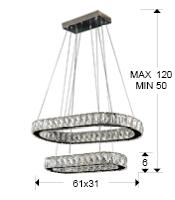 medidas lámpara Diva Schuller 854321