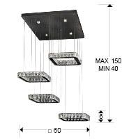 medidas lámpara Diva Schuller 854537