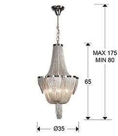 medidas lámpara Minerva Schuller 872611