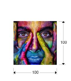 Fotografia de colores montada en cristal templado 100x100